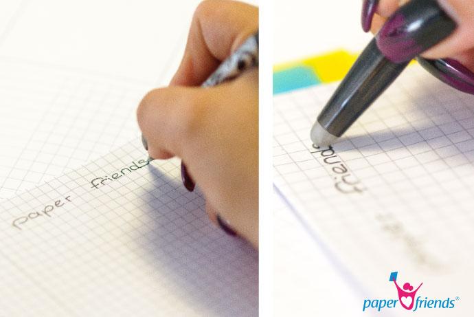 Frixion schreiben und radieren