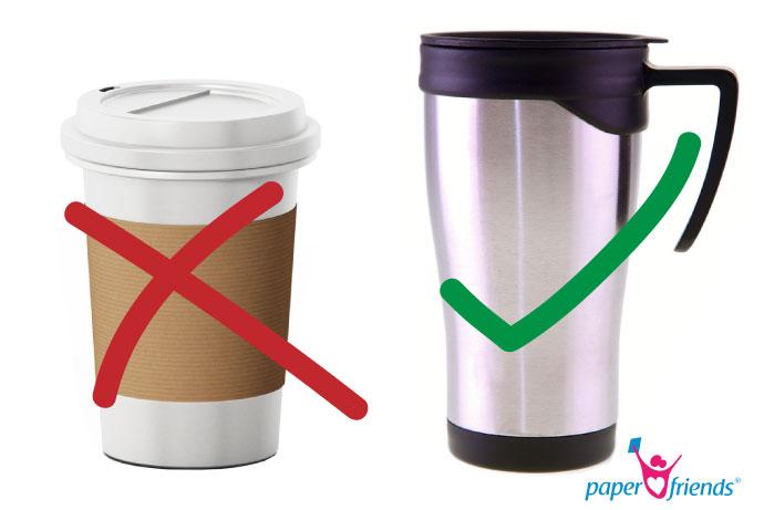 Müll vermeiden mit coffee-to-go aus Mehrwegbechern