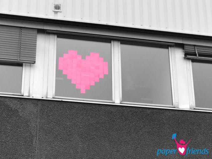 Liebesgruß in XXL zum Valentinstag
