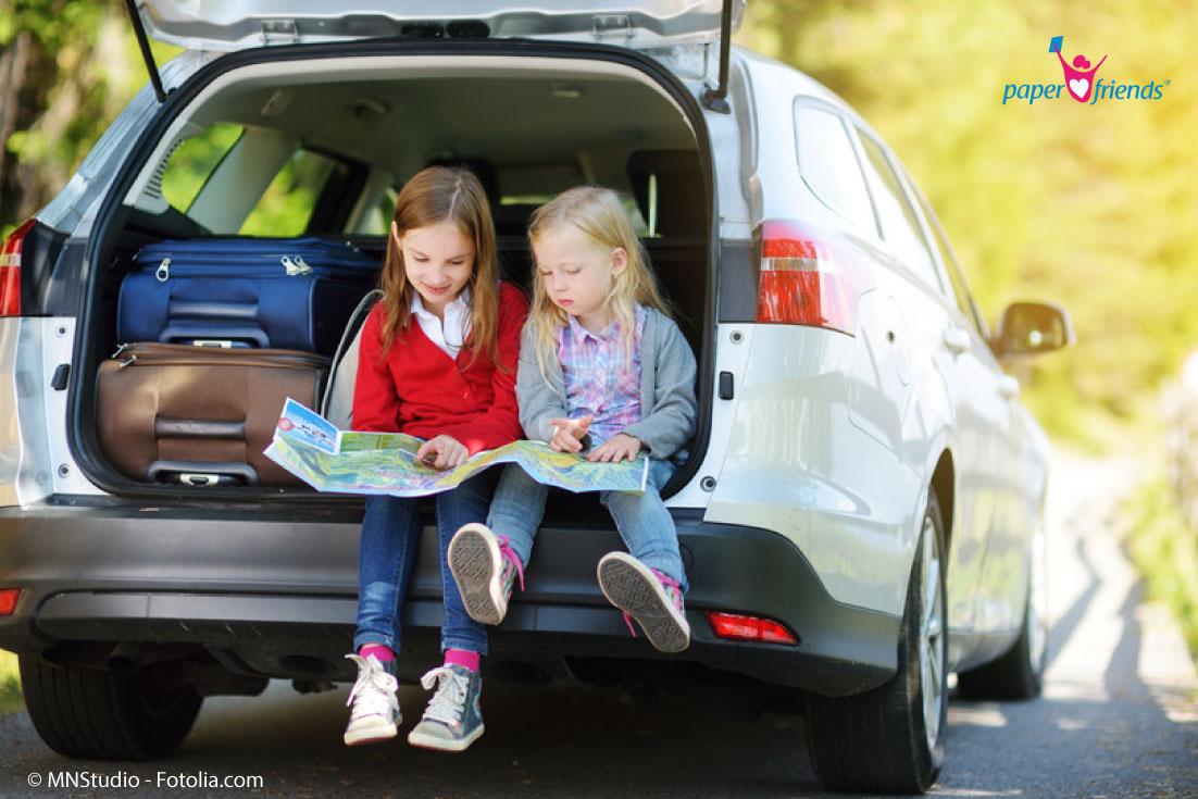 Stressfreie Fahrt in den Urlaub mit Kindern