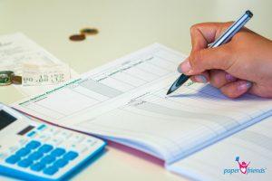 Einzelausgaben im Haushaltsbuch