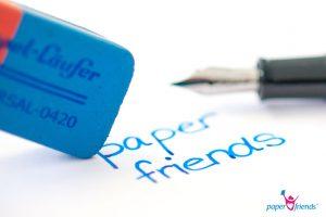 Radierer blau mit Füller