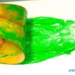 Herbstbasteln: Blätterstempel