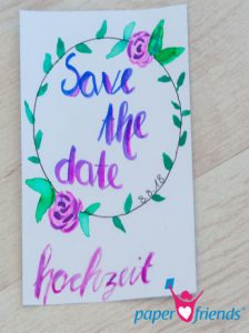 Save the Date Karte Rosenkranz