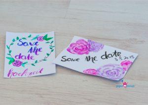 aquarell Save the Date Karten