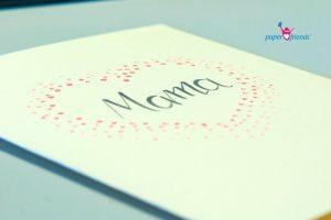 Karte zum Muttertag stempeln
