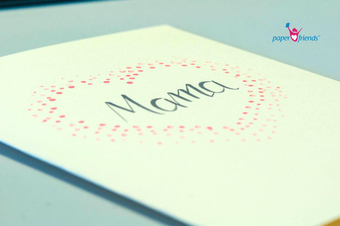 Muttertag: Schnelle Idee für ein Geschenk. Herzstempeln