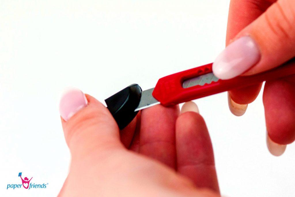 Messer abbrechen an Sollbruchstelle