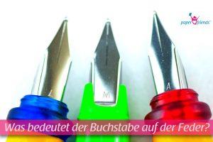 Drei Füllerfedern