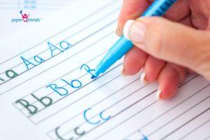 Mit wasserlöslichem Stift schreiben