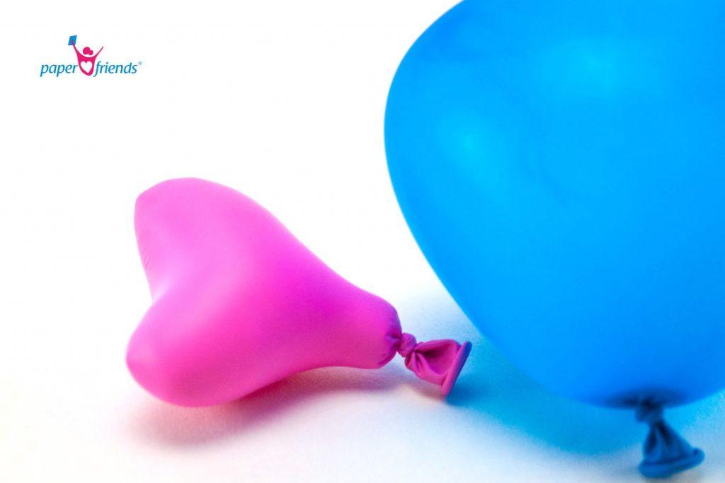 geschrumpfter Luftballon