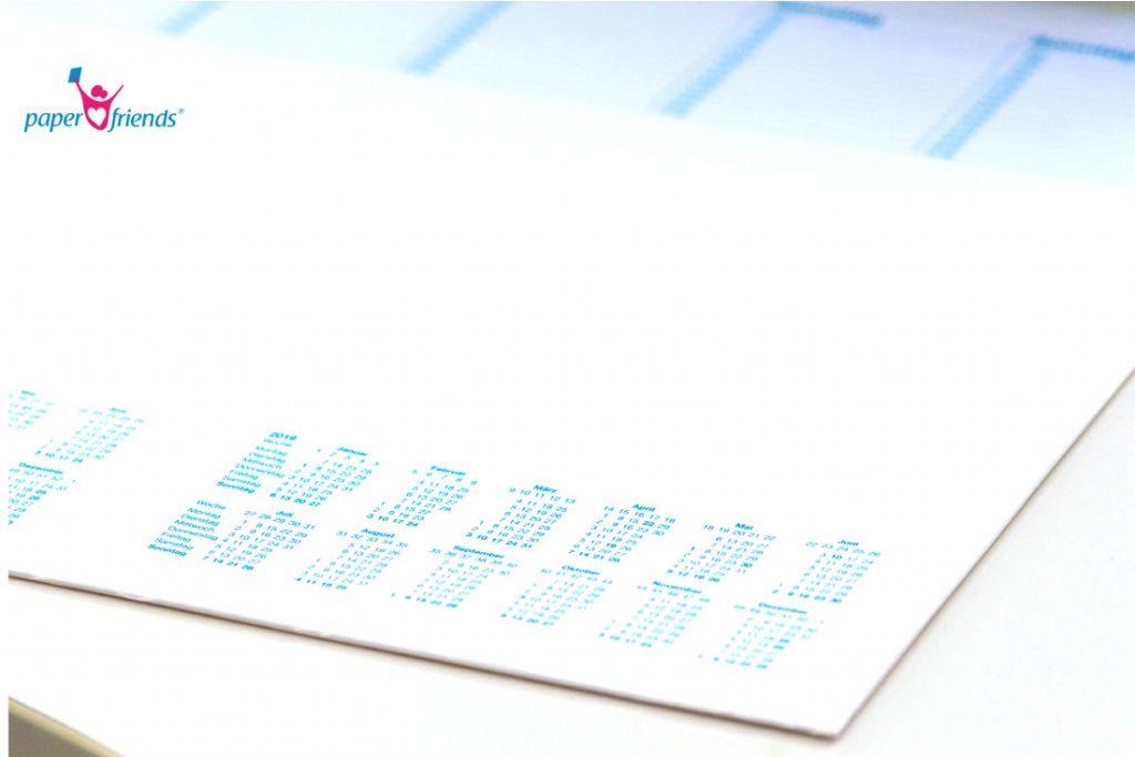 """Blanko mit Kalendarium/"""" w... Notiz-Schreibunterlage /""""Office 60x42 cm 30 Bl."""