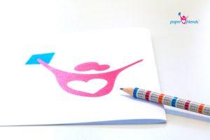 Abzupausendes Bild mit Stift