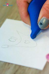 Radiergummi auf Bleistift Zeichnung