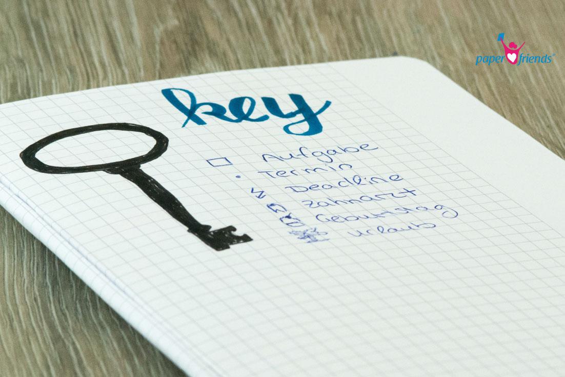 Key im Journal