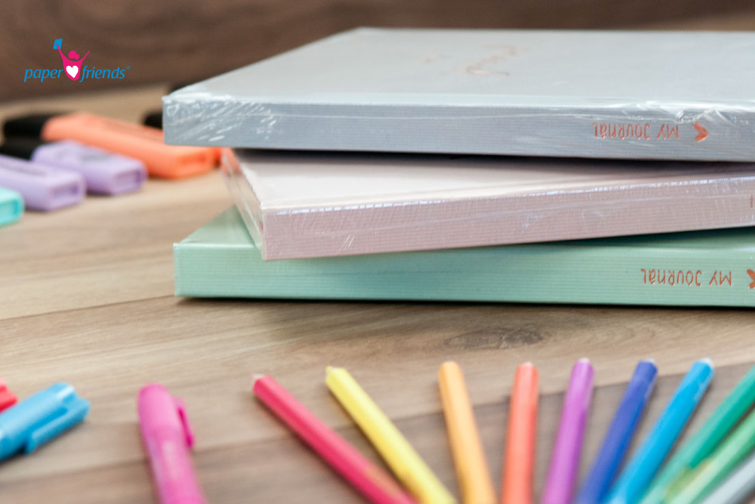 Pastell Journals und Stifte