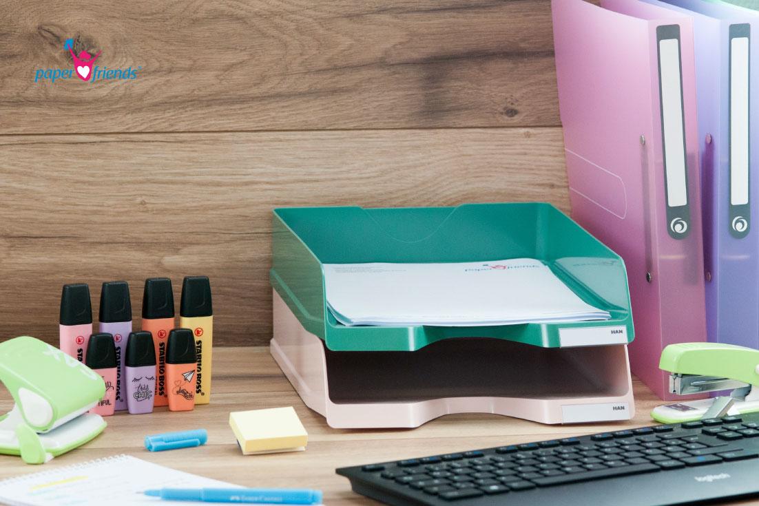 Pastell im Büro